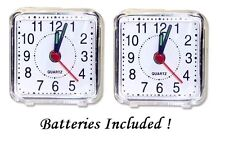 Travel Alarm Clock Holiday & Travel Essentials + AA Battery Is Included 2 Pack !