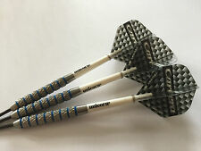 25g Blue Ring Tungsten Darts Set, Unicorn Stems & Target Carrera Flights