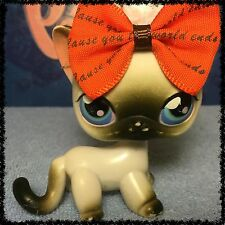 Littlest Pet Shop LPS GREY AND WHITE SIAMESE CAT # 5 BLEMISHED