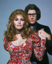 Yves Saint Laurent & Raquel Welch 10 x 8 UNSIGNED photo - P1214