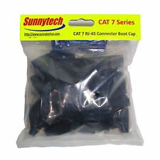 Sunnytech RJ45 Connector Boot Cap for CAT7 cable, 8.0mm OD, Black Color, 20 Pack