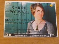 Karine Polwart - Glasgow june 2011 tour concert gig poster