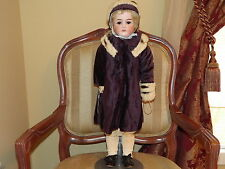 Germany Bisque Head Leather Kid Body Doll #1500 26 in.