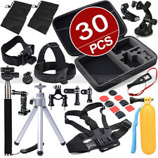 Pack Accessories Case Set Kit Head Mount Monopod for Go Pro Hero 3 3+ 4 5 SJ4000