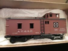 santa fe old timer CABOOSE 1/87 scale car-built HO-Scale W/BOX kadees roundhouse