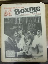 26/01/1968 Boxing News Magazine: Vol: 24 No: 4 - Content To Include: Howard Wins