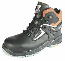 Jallatte Black Leather Gore-Tex Safety Toecap Non Metalic Boots UK 6 / EU 39