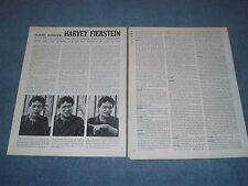 1988 Interview Article with Broadway Actor Harvey Fierstein