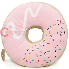 "Pink Sugar Doughnut  Cushion Donut Cushion Food Pillow 16"" Cotton Food"