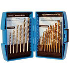 NEW 19 PC HSS TITANIUM & TCT MASONARY / MASONRY WOOD BRICK METAL DRILL BIT SET