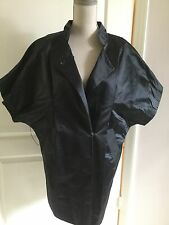 VERA WANG Blue Silk Short Sleeve V Neck Dress Size 4
