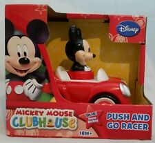 DISNEY MICKEY MOUSE CLUBHOUSE Red MICKEY Push & Go Racer Car Toy 18M+ Gift