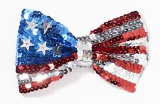 American Flag Men's Bow Tie USA Patriotic BOWTIE Sequins