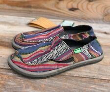 Sanuk KIDS Donny Fiesta Stripes Shoes Slides Sandals Canvas Shoes US 1