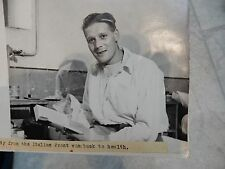 WW2 ITALY  NAMED CASUALTY ALL TO RESEARCH  SGT J UDEN  of HYTHE KENT medal recip