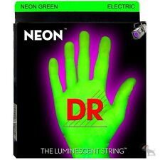 DR Strings NGE-9 Hi-Def Coated Neon Green Lite Electric Guitar Strings (9-42)