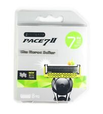 NEW Dorco Pace 7 World's First Seven Blade Razor System - 8 Refill Cartridges