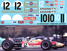1/12 Lotus 49B Ford F1 Gold Leaf  Andretti Hill 1968 Decals TB Decal TBD238