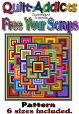 FREE YOUR SCRAPS - MULTI SIZED Quilt-Addicts Patterns