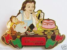 Disney DLR  Dining Series Pin #6 Belle & Friends GWP LE Pin **