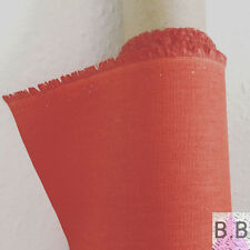 Plain Cotton Coral Fabric Offcut Fabric Remnant 50x50cm Modern Fabric Coral Red