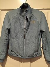 The North Face Woman's Quilted Jacket Light Blue Soft Winter Jacket