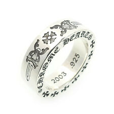Authentic Chrome Hearts Spacer Ring 6mm Dagger Plus US4.5 JP8 Silver Used F/S