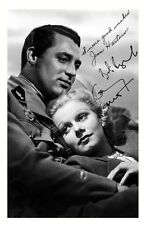 CARY GRANT & JEAN HARLOW AUTOGRAPHED SIGNED A4 PP POSTER PHOTO