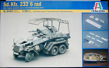 Italeri 1/35 escala kit plástico no 6445 Sd.Kfz.232 6 Rad blindado Scout Car