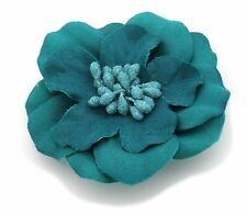 Zest Flower Hair Slide Clip Corsage Jade Green