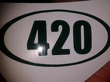 AWESOME Marijuana Weed DARK GREEN 420 5 Sticker LOT Cannabis Medical Legalize
