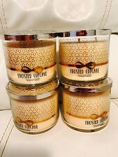 Total 4 Bath & Body Works Frosted Cupcake 3 Wick Candle