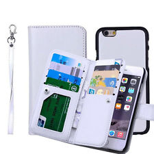 Leather Removable Wallet Magnetic Flip Card Case Cover for iPhone 5 6 6S 7 Plus