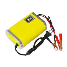 Motorcycle Car Auto 12V 6A Battery Charger Intelligent Charging Machine