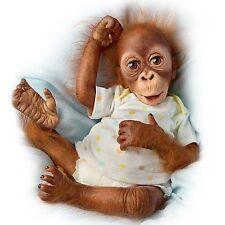 "Simons Laurens Baby Babu 16"" Collectible Orangutan Baby Doll by Ashton Drake"