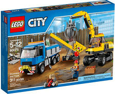 LEGO City 60075 City Demolition LEGO Excavator and Truck Set in Box Sealed
