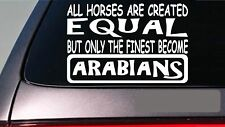 "Arabians all horses equal 6"" sticker *E573* show horses saddle stirrups shoes"