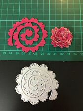 "2.85"" Flower Quilling Rolled Cutting Die for Sizzix Spellbinders Etc. Machine"