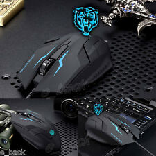 USB Wired X5 3D Optical Gaming Game Mouse Mice 1600DPI For Laptop PC Gamer Black