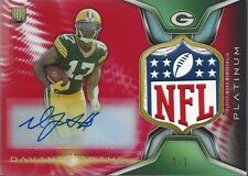 DAVANTE ADAMS 2014 TOPPS PLATINUM ROOKIE NFL LOGO SHIELD PATCH AUTO RC #D 1/1