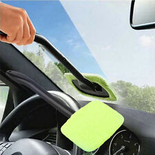 Windshield Car Glass Cleaner Wiper Handle Wand Microfiber Cloth Auto Tool USA L8