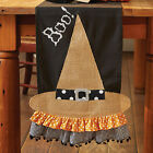 Mud Pie MH5 Holiday Halloween Kitchen Dining Witch Hat Table Runner 4395012