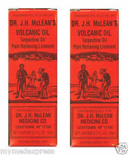 2 PACK Dr. JH McLean's Volcanic Oil Pain Relieving Liniment 2 oz (011169144023)