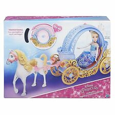 NEW Disney Princess Cinderella's Magical Transforming CARRIAGE Horse Pumpkin NIB