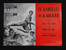 LE KAMIKAZE DU KARATE photo scenario film 1973 KUNG FU / YOU YOUNG