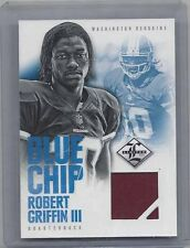 ROBERT GRIFFIN III 2012 LIMITED BLUE CHIP ROOKIE JERSEY RC #D 23/99