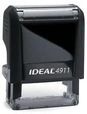 Customized (your text) IDEAL 4911 Self-inking Rubber Stamp with RED INK