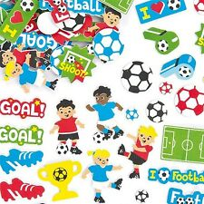 20 FOAM FOOTBALL THEME STICKER CARD MAKING SCRAPBOOKING CRAFT EMBELLISHMENTS
