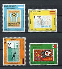 s6452a) PARAGUAY 1988 MNH** WC Football'90 - CM Calcio 4v stamps on stamps