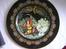 "Heinrich Villery Boch ""Tsar Saltan"" Russian Fairy Tale Plate, Box & Papers"